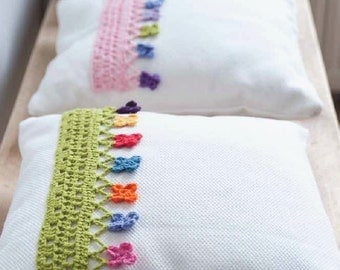 Crochet Pillow Edging Pattern - Instant Download