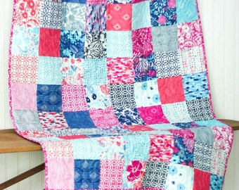 Paradiso Baby Quilt - Crib Quilt - Small Lap Quilt - READY TO SHIP