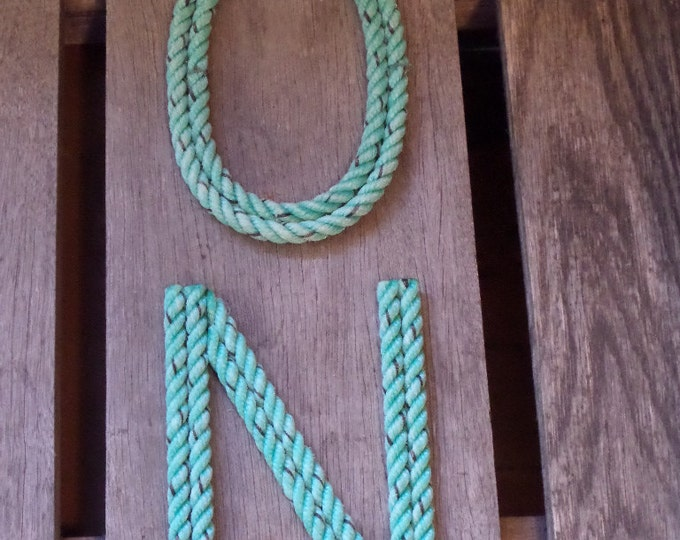10 Inch Rope Letters and Numbers MADE TO ORDER Nautical Western Rustic Cowboy Marine Coastal Ocean Beach