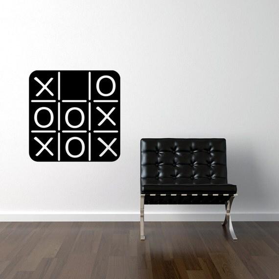 Tic Tac Toe Chalkboard Decal Tic Tac Toe Game, Chalkboard wall decal, Kids Chalk board vinyl decal
