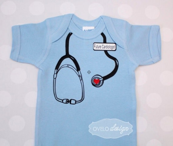 Future Cardiologist Stethoscope Onesie for your Medical Professional, Doctor, Nurse, EMT