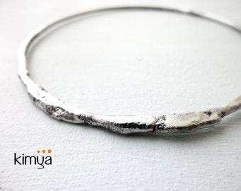 Contemporary Silver Bangle - Modern Silver Bracelet - Minimalist Bangle - Organic Silver Bangle - Handmade Bangle - Contemporary Jewelry
