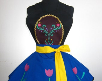 Frozen Inspired Anna Costume Apron