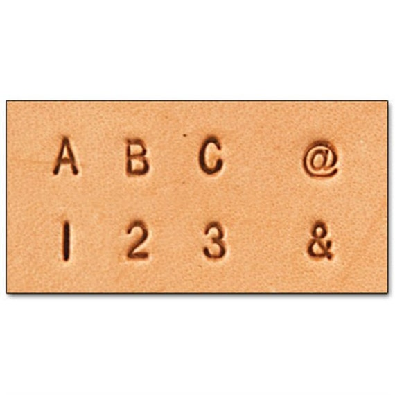 Leather stamp set 1 8 inch leather alphabet and number for Leather embossing letters