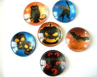 Holloween Round Glass Magnet, Holloween Round Fridge Magnet, Holloween Deco Glass Round Magnet