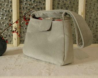 Small Purse in Classy Grey Velvet