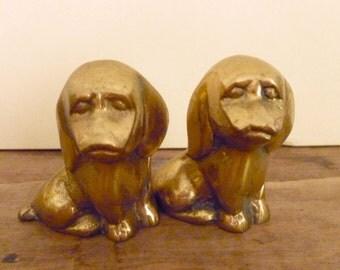 Vintage Brass Dog Figurine - Brass Hound Dog Collectibles