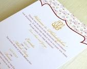 Ganesh Indian Wedding Itinerary Card - Welcome Bag Card - Hindu Events Card - Destination - Custom Colors