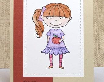 Teacher Card, Thank you Teacher, For My Teacher, School Girl, Clearance