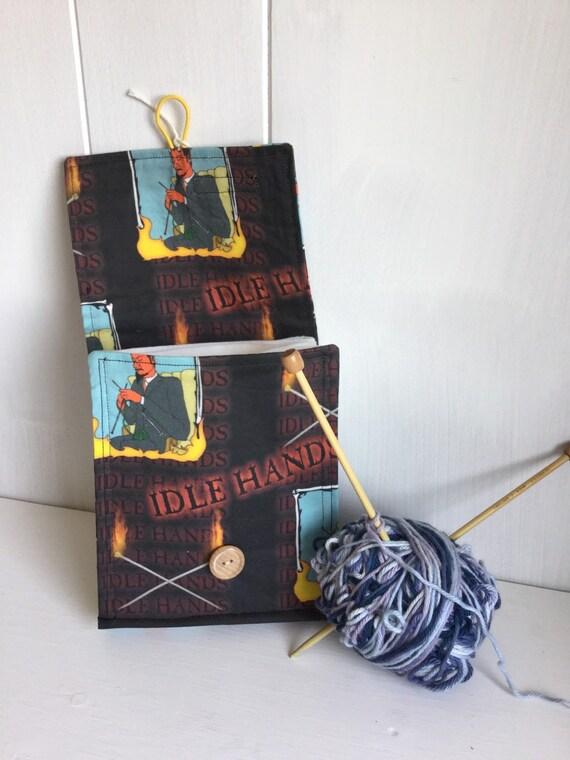 Circular Knitting Needle Storage Organizers : Circular knitting needle organizer case devil by