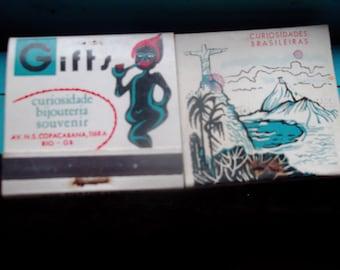 CURIOSIDADES BRASILEIRAS match book, COPACABANA, Rio, Brazilian, collectibles
