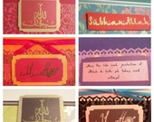 CLEARANCE Set of 6 Muslim All-Occasion Cards