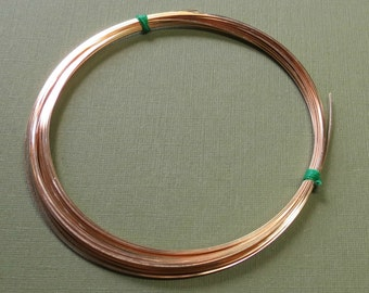 3 Feet 22 gauge Gold-Filled Wire - SQUARE - Half-Hard