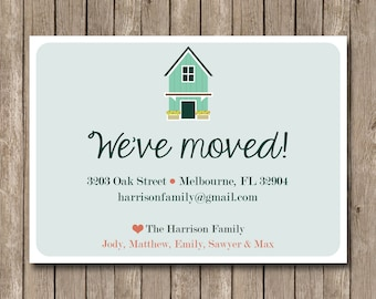 Printable We have Moved Announcement