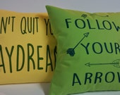 Personalized t-shirt pillow quote pillow