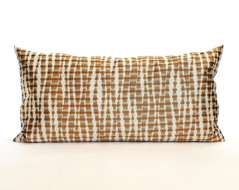 Lumbar Pillow Cover Copper Pillow Cover Stripe Upholstery Fabric Decorative Pillow Oblong Throw Pillow Cover 12x24 12x21 12x18 12x16 10x20