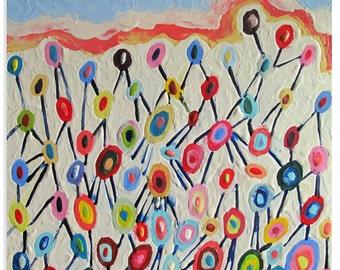 Original Encaustic Painting Geometric original encaustic beeswax painting Emergence abstract art