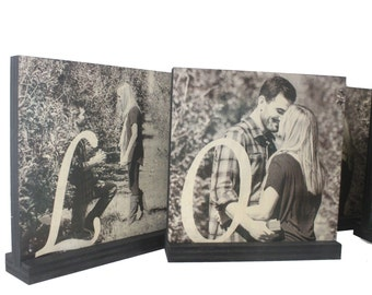 PERSONALIZED PHOTO GIFTS- Personalized Photo Frames-Wooden Picture Frames-Wooden Photo Blocks-Christmas Gifts