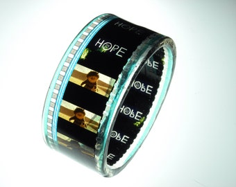 resin bracelet filmstrip bracelet bangle . Where the Wild Things Are . graphic and chunky