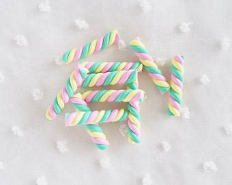 5pcs - Carnival Marshmallow Sweets Decoden Cabochon (25x5mm) CLY005