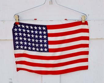 Vintage 48 Star United States Flag Red White Blue Patriotic Stars Stripes Memorial Day July 4th Veteran's Day 1950's
