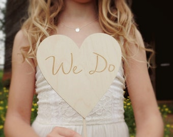 We Do Cake Topper Wood Heart Cake Topper Rustic Wood Cake Topper Barn Wedding Cake Topper #DownInTheBoondocks