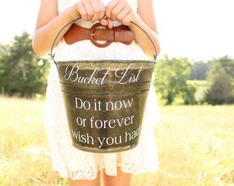 Bucket List Pail Wedding Bucket List Game Wedding Game Retirement Party Game Adult Birthday Party Game #Bucketlist