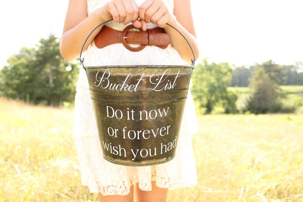 Bucket List Pail Wedding Game Retirement Party Adult Birthday Bucketlist