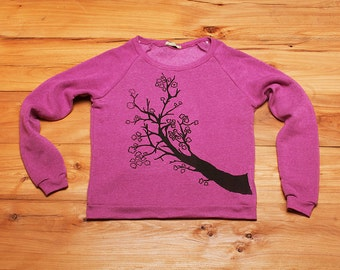 Cherry Blossom Shirt, Cozy Sweatshirt, Pink Sweater, S,M,L,XL