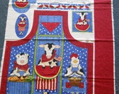 Barnyard Bar-B-Que Apron Panel - Sewing Fabric Panel