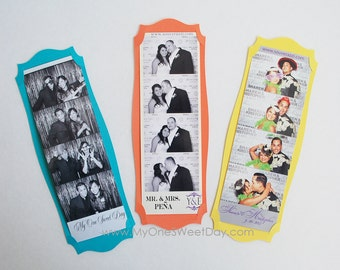 Photo Booth Card Strip Frame photo booth arty favor