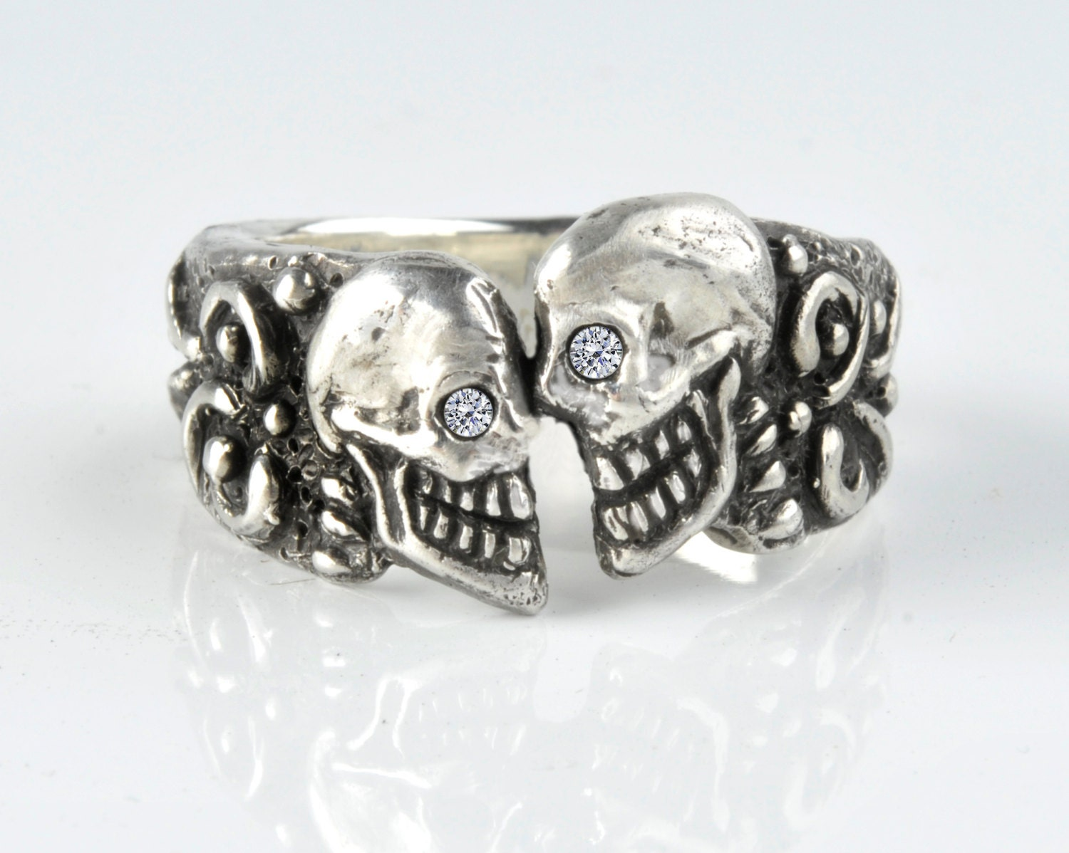 diamond skull rings for men pkqCfmEAeJM mens skull wedding rings Raider Skull Ring Mens Diamond Yellow Gold 10k Skull