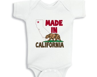 Made in CALIFORNIA baby bodysuit or  Kids Shirt