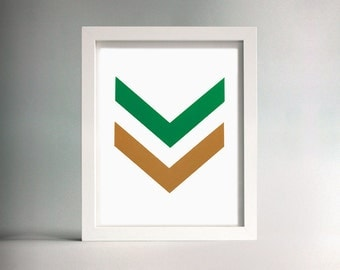 Untitled (Chevron) Screen Print