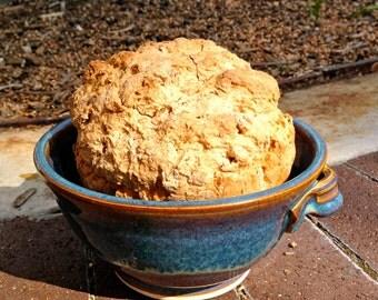 Bread baking bowl.  Beer bread bowl.