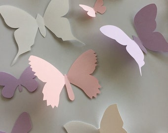10 ready to ship assorted paper wall butterflies, 3d paper wall art