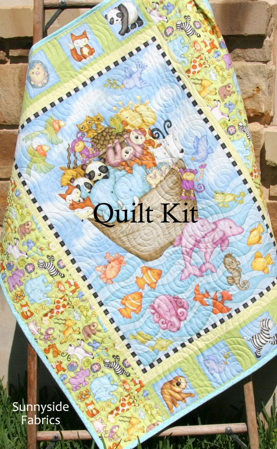 Noah S Ark Quilt Kit Biblical Bedding Two By Two Henry
