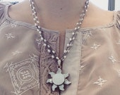Mother of Pearl Sun Pendant Necklace