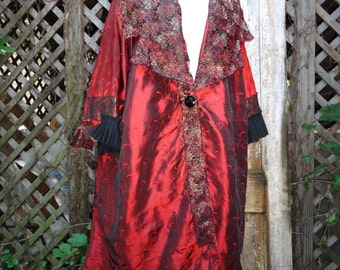 Long Coat,Victorian Coat,Romantic Coat,Fairy Coat,Gypsy Coat,by Nine Muses Of Crete