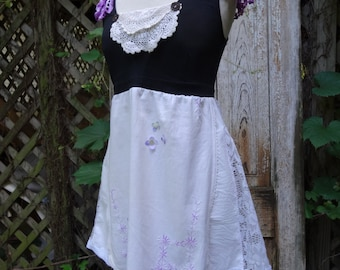 Bohemian Top,Upcycled Top,Romantic Top,Eco Top,Shabby Chic,by Nine Muses Of Crete