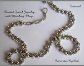 Tutorial Beaded Spiral Rope Jewelry with Matching Clasp, Jewelry Beading Pattern, Beadweaving Instructions, PDF, Do It Yourself