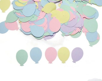 100 Pastel Balloons, Punch Cut Embellishments, Scrapbooking, Birthday Parties