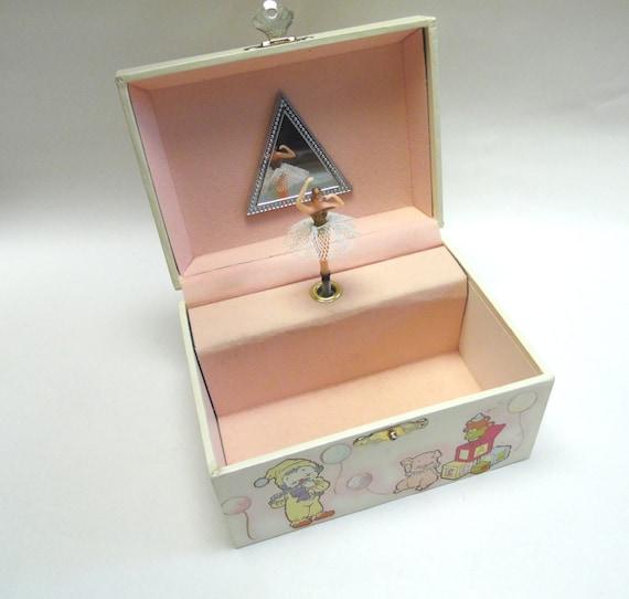 Circus Jewelry Box Pop Up Spinning Ballerina Music Box