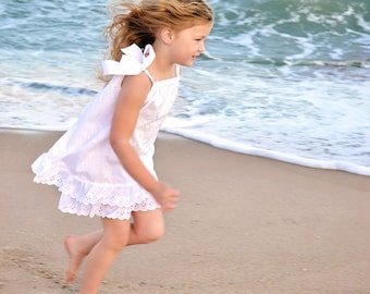 Girls White Beach Dress