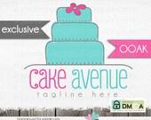 cake logo - baker logo - cupcake logo - Hand drawn Logo  - logo for baker - event logo - bakery logo - party planner - OOAK not resold