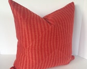 Decorative Pillow Covers in Robert Allen Upholstery Coral Texture Fabric