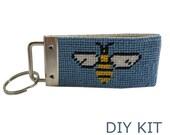 Needlepoint KIT, Honey Bee Key Fob