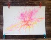 Opening - Original Watercolor - 12inx18in