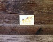 The Dancers - Original Wine Watercolor - Cunoise - 4inx6in