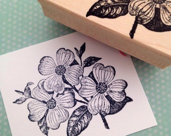 Dogwood Flower Bloom Rubber Stamp 3815T